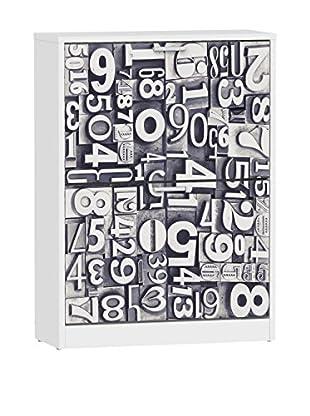 13 Casa Schuhschrank Hashtag A6 weiß/grau