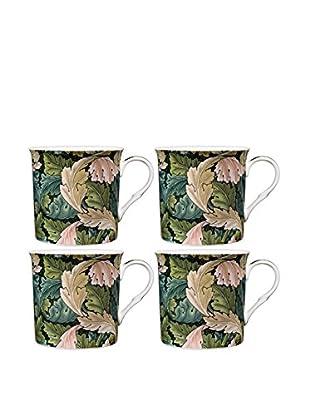 Home Essentials Set of 4 Acanthus 10-Oz. Mugs