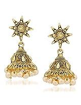Jhumka Earrings For Women Girls in traditional Ethnic Pearl Earings By Meenaz J123
