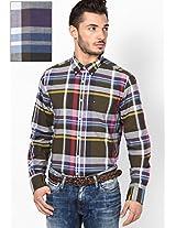 Cs Iris Leaf-Pt/ Multi Full Sleeve Casual Shirts