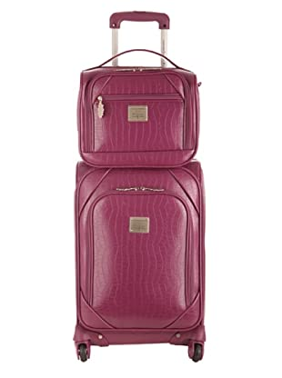 Ines De La Fressange  Set Trolley & Beauty Case Pyramides (Viola)