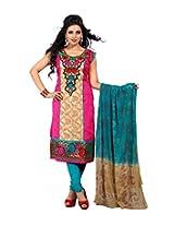 Cenizas embroidered Semi Stich Salwar Suit Duptta ( FSHN 556)