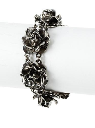 Tuleste Market Rosette Bracelet, Antique Silver