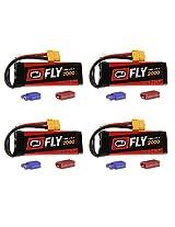 Venom Fly 30 C 2 S 2000m Ah 7.4 V Li Po Battery With Universal 2.0 Plug X4 Packs