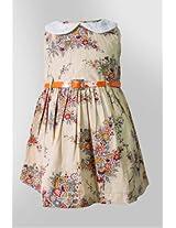 Nauti Nati Printed Golden Dress Naw13-056