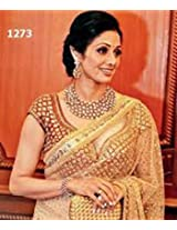 bollywood replica Sridevi in Gold and Red Traditional and Designer Sarees