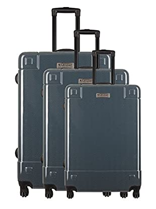 Creation Olivier Lapidus Pour Platinium Set 3 Trolley 4 Ruedas Couture (Gris)