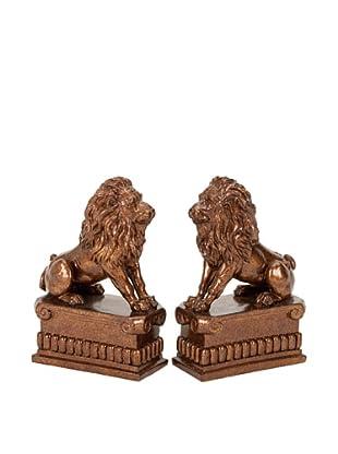 UMA Polystone Lion Bookends