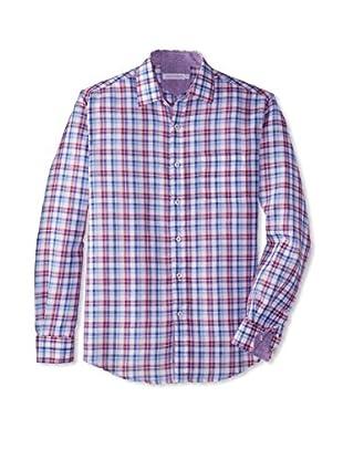 Alex Cannon Men's Washed Check Sportshirt