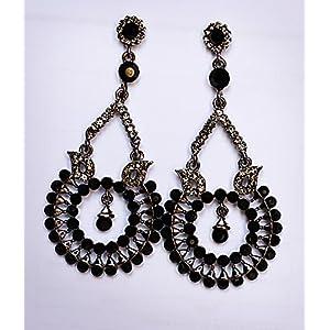Gioielleria Fashion Black metal with stones Earring