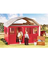Breyer Painted Deluxe 2 Stall Barn Toy Figure