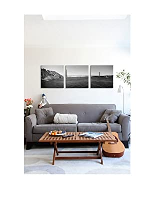 Golden Gate Bridge Panoramic Giclée Canvas Print Triptych