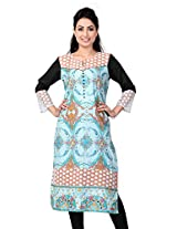 Lifestyle Retail Women Straight Kurta (TRN-1166-7322_Green_X-Larg)
