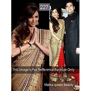 Malaika Arora Style Bollywood Golden Saree At Lakme Fashion Week 2013