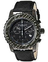 Stuhrling Original Men's 3268.04 Aquadiver Felucca Analog Display Swiss Quartz Black Watch