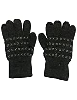 Graceway Unisex Gloves (4GL3, Dark Grey, Free Size)
