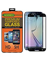 Adoniss Premium Curved Tempered Glass Screen Protector For Samsung Galaxy S6 edge Plus Black