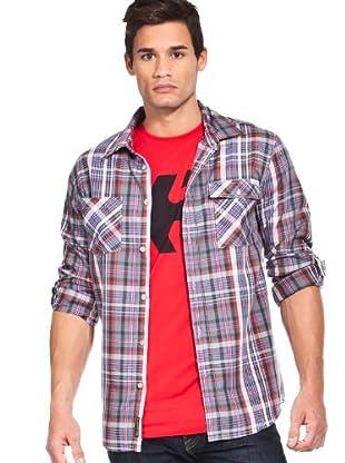Etnies Camisa Cuadros (Gris)