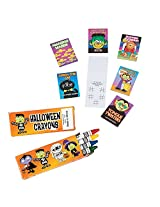 Halloween Party Favor Bundle Pack Crayons With Fun And Game Books