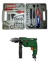 Green Metal Drill Machine With 50-Pc Multi Tool Kit Set-bddm