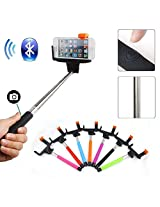 2010kharido Extendable Self Portrait Selfie Handheld Stick Monopod With Smartphone Adajustable Holder