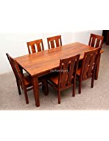 6 seater dining set in soild sheesham wood