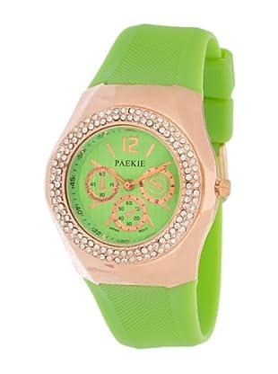 My Silver Reloj Rosado Pistacho Strass