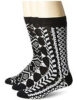 Muk Luks Men's Microfiber Crew Socks 3 Pair Pack Black