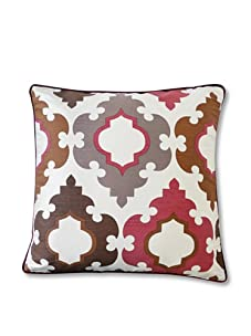"Jiti Turkish Tiles 20"" x 20"" Pillow (Red Multi)"