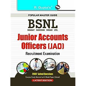 BSNL Junior Accounts Officers (JAO) Examination Guide (Popular Master Guide)