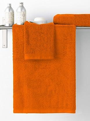 Art Experience Juego de Toallas Liso Basic (Naranja)