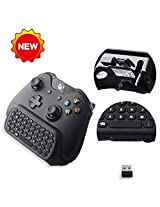 Megadream 2.4 G Mini Wireless Chatpad Message Game Controller Keyboard For Microsoft Xbox One Controller Black Not Compatible With New Xbox One Edition Controller