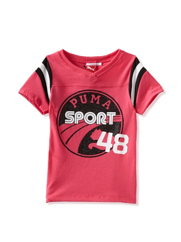 Puma Girls 2-6X Sport Football Tee (Pink)