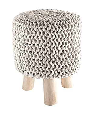 Contemporary Black & White Pouf Knit