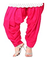 Castle Women's Churidar With Dupatta (Pink_Free Size)