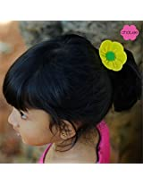 Gia (6 petal flower hair tie)