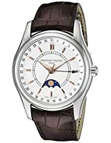 Frederique Constant Men's FC-330V6B6 Index Brown Strap Moon Phase Watch