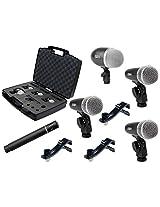 Proel DMH5XL 5-Piece Drum Microphone Kit, Black