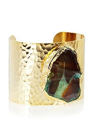 Charlene K Large Agate Emerald Quartz Cuff