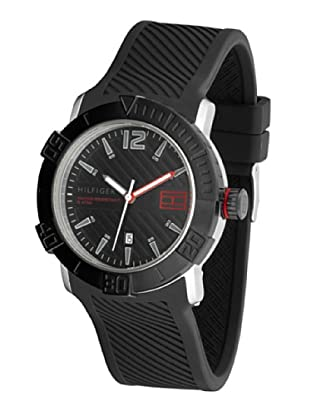Tommy Hilfiger 1790735 - Reloj de Caballero movimiento de quarzo, correa de silicona color negro