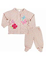 Carters Floral Print Top And Bottom Set With Bodysuit - Multi Coloured (6 - 9 Months)