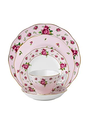 Royal Albert New Country Roses Vintage 5-Piece Place Setting, Pink