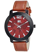 MTV Analog Red Dial Men's Watch - M-3005