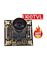 MERSK HD 1300 TVL camera 13 Inch Mini CCTV PCB board camera Tiny Wide video recorder 2.1mm Wide Angle lens