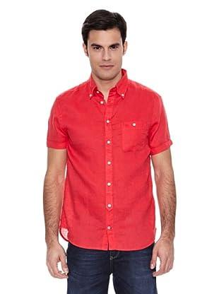 Pedro del Hierro Camisa Lino Liso Lavado (Rojo)