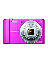 Sony Cyber-shot DSC-W810/P W-Series 20.1MP Point and Shoot Camera (Pink) with 6x Optical Zoom, Memory Card and Camera Case