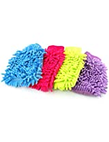 Microfiber Wash Mitt Mitten Car Cleaning Glove Random Colour