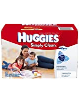 Huggies Simply Clean Unscented Baby Wipes Refills 600ct.