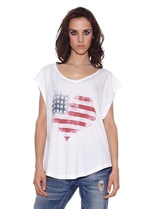 The Hip Tee Camiseta Flag Heart (Blanco)