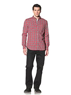 French Connection Men's Mars Check Shirt (Racer)